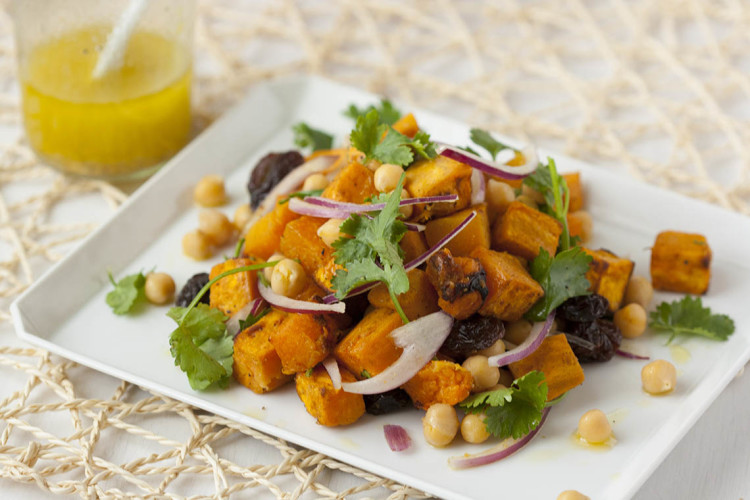 Butternut squash and chickpea salad