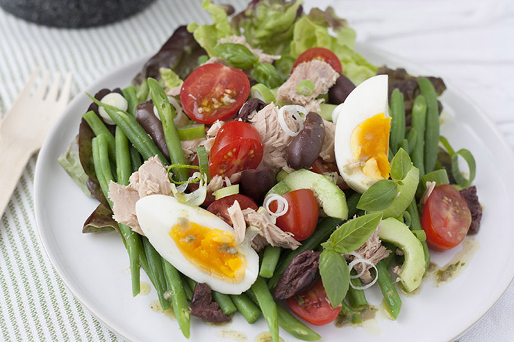 Niçoise salad, the classic summer dish.