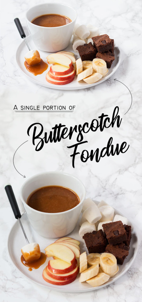 simple butterscotch fondue